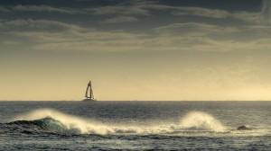 Desktop Wallpaper: White Sailboat On Th...