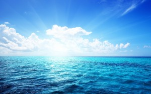 Desktop Wallpaper: Ocean With Blue Sky ...