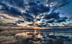 Desktop Wallpaper: Blue Skies Over Calm...