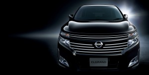 Desktop Wallpaper: Black Nissan Elgrand