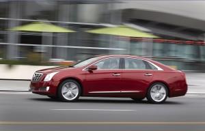 Desktop Wallpaper: Red Cadillac Sedan O...