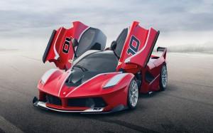 Desktop Wallpaper: Red Ferrari Laferrar...