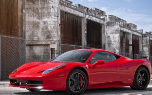 Desktop Wallpaper: Red Ferrari 458 Ital...