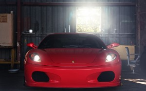 Desktop Wallpaper: Red Ferrari 360 Mode...