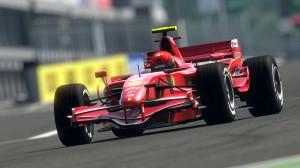 Desktop Wallpaper: Red F1 Race Car On R...