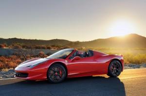 Desktop Wallpaper: Red Ferrari Parked N...