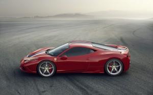 Desktop Wallpaper: Red Ferrari 458 Spec...