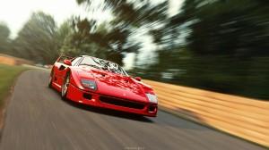 Desktop Wallpaper: Red Ferrari F40 Gran...
