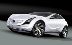 Desktop Wallpaper: White Mazda Coupe