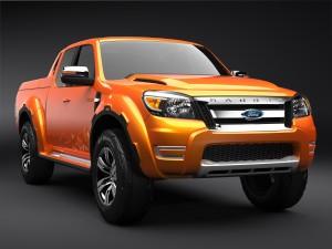 Desktop Wallpaper: Orange Ford Ranger S...