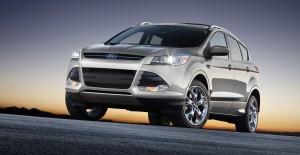 Desktop Wallpaper: Gray Ford SUV On Gra...