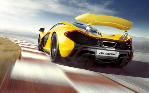 Desktop Wallpaper: Yellow McLaren P1