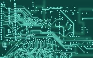 Desktop Wallpaper: Green Circuit Board