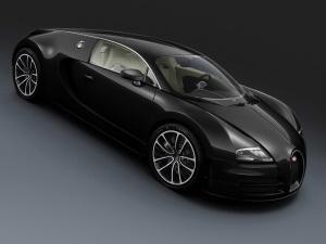 Desktop Wallpaper: Black Bugatti Veyron