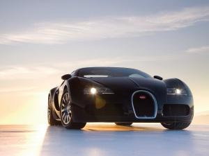 Desktop Wallpaper: Black Bugatti Vision