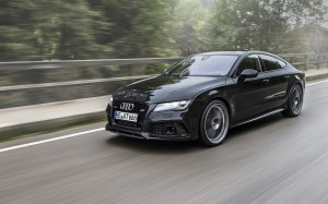 Desktop Wallpaper: Black Four Door Audi...