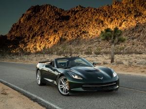 Desktop Wallpaper: Black Corvette Sting...