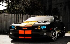 Desktop Wallpaper: Black Orange Chervol...