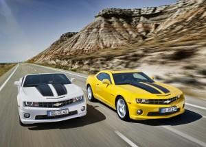 Desktop Wallpaper: Chevrolet Camaros On...