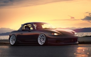 Desktop Wallpaper: Black Mazda MX5