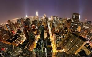 Desktop Wallpaper: Aerial View Of City ...