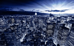Desktop Wallpaper: City Night Arial Vie...