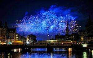 Desktop Wallpaper: Fireworks Display At...
