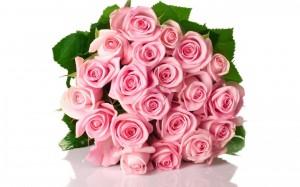 Desktop Wallpaper: Bouquet Of Pink Rose...