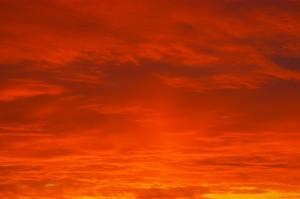 Desktop Wallpaper: Orange Clouds