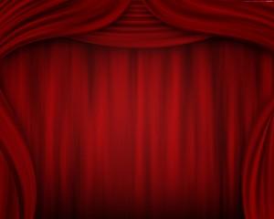 Red Stage Curtain Clip Art - скачать обои на рабочий стол