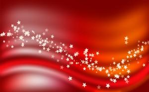 Desktop Wallpaper: White Stars On Red B...