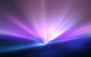 Desktop Wallpaper: Purple And Blue Ligh...