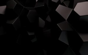 Desktop Wallpaper: Gray And Black Geome...