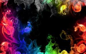 Desktop Wallpaper: Multicolored Flames
