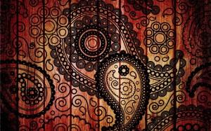 Desktop Wallpaper: Black And Orange Pai...
