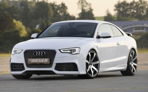 Desktop Wallpaper: White Audi Coupe Par...