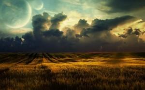 Desktop Wallpaper: Green Field View Dur...