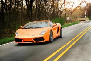 Desktop Wallpaper: Orange Lamborghini O...
