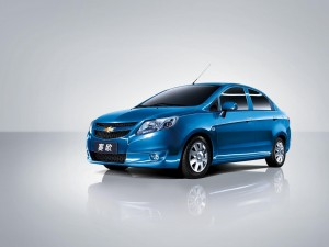 Desktop Wallpaper: Blue Chevrolet Sedan