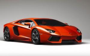 Desktop Wallpaper: Orange Lamborghini
