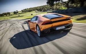 Desktop Wallpaper: Orange Lamborghini H...