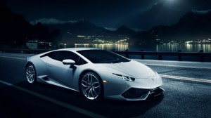 Desktop Wallpaper: White Sports Car On ...
