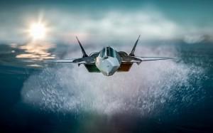 Desktop Wallpaper: Motion Shot Of Jet P...