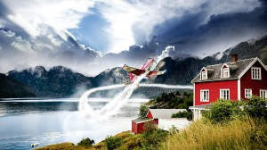 Desktop Wallpaper: Red House Near At La...