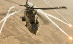Desktop Wallpaper: Brown Helicopter Fly...