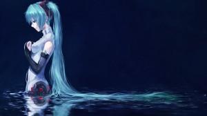Desktop Wallpaper: Blue Haired Anime Ch...