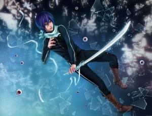 Desktop Wallpaper: Blue Haired Male Ani...