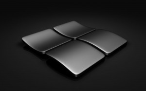 Desktop Wallpaper: Black Windows Logo