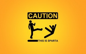 Desktop Wallpaper: Caution This Is Spar...