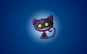 Desktop Wallpaper: Black Cat Cartoon